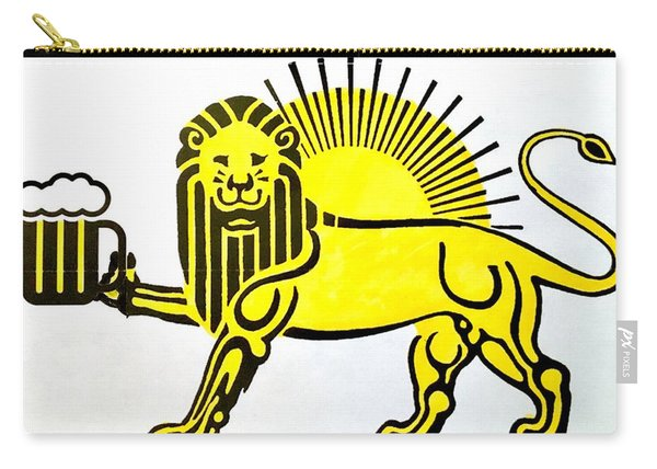 Carry-all Pouch featuring the painting Beersia by Joel Tesch