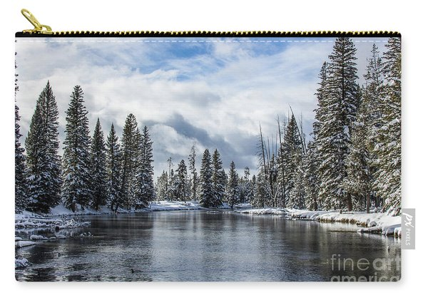 Big Springs In Winter Idaho Journey Landscape Photography By Kaylyn Franks Carry-all Pouch