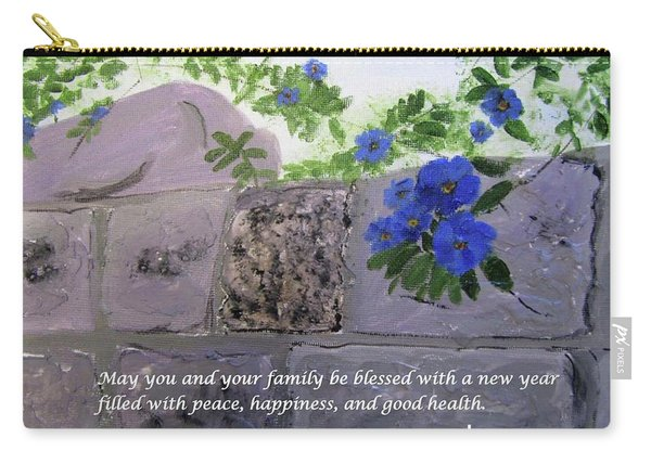 Blossoms Along The Wall Carry-all Pouch