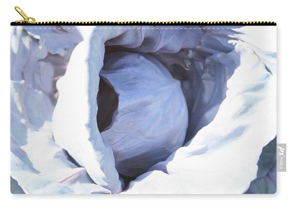 Blue Cabbage Carry-all Pouch