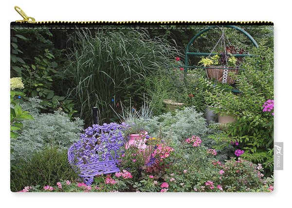 Blue Garden Bench Carry-all Pouch