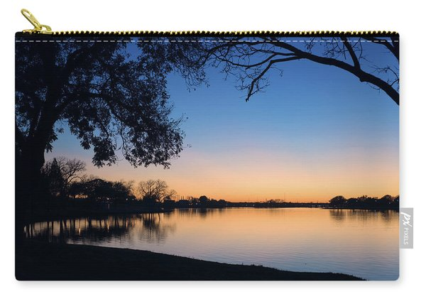 Blue Gold Sunset Carry-all Pouch
