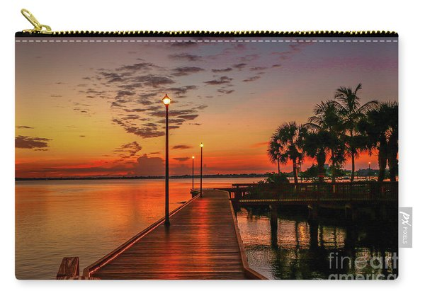 Carry-all Pouch featuring the photograph Boardwalk Sunrise by Tom Claud