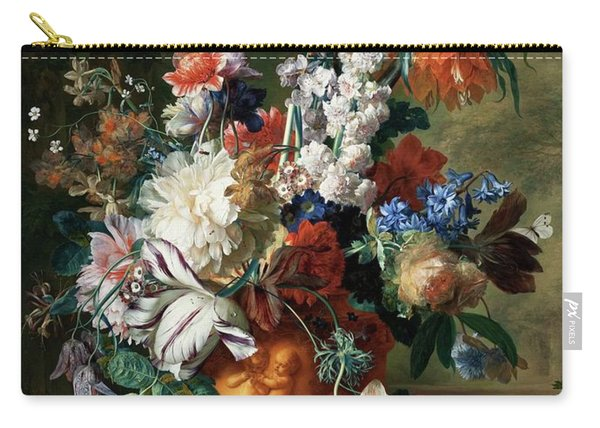 Bouquet Of Flowers In An Urn Carry-all Pouch