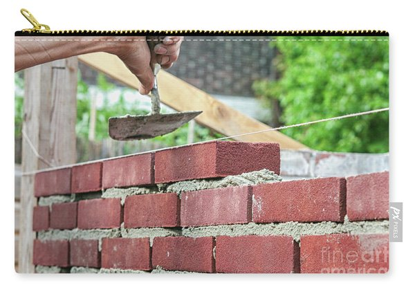Bricklayer With Trowel Carry-all Pouch