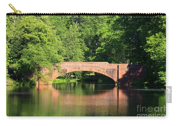 Bridge Reflection In The Spring Carry-all Pouch