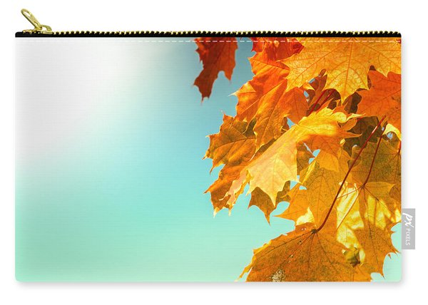Yellow Autumn White Sun Carry-all Pouch