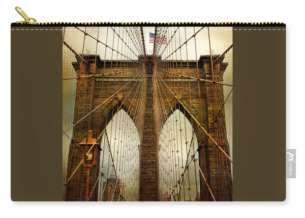 Brooklyn Bridge Twilight Carry-all Pouch