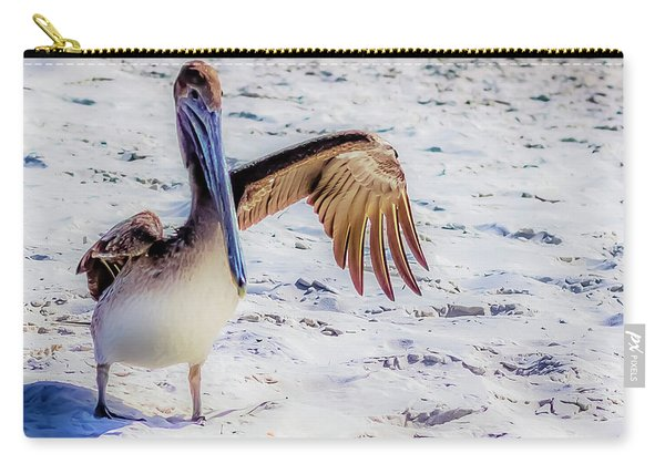 Brown Pelican Wave Carry-all Pouch