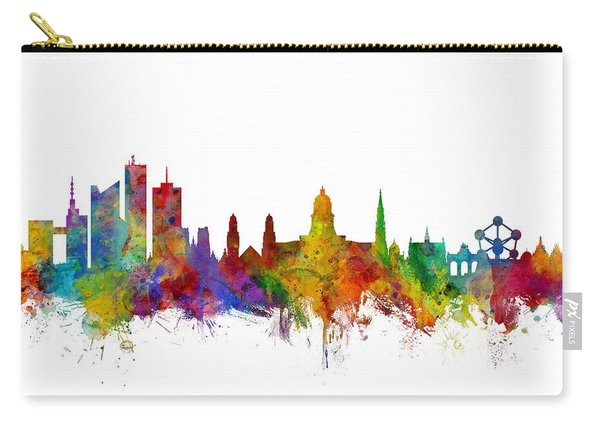 Brussels Belgium Skyline Carry-all Pouch