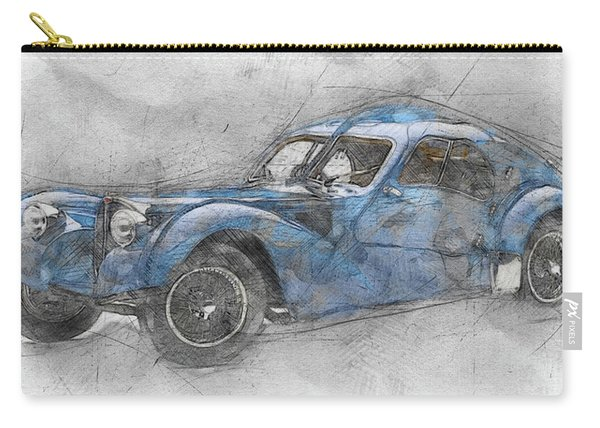 Bugatti Type 57 - Atlantic 1 - 1934 - Automotive Art - Car Posters Carry-all Pouch