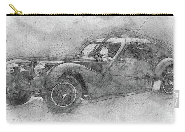 Bugatti Type 57 - Atlantic - 1934 - Automotive Art - Car Posters Carry-all Pouch