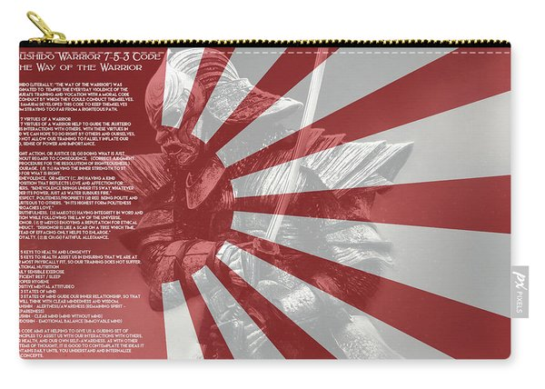 Bushido Warrior 7-5-3 Code, The Way Of The Warrior Carry-all Pouch