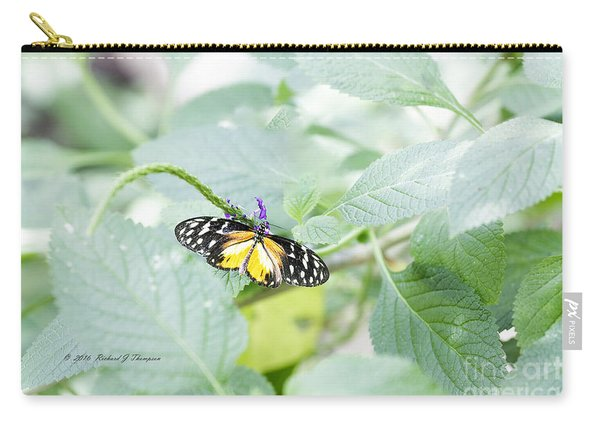 Carry-all Pouch featuring the photograph Tiger Butterfly by Richard J Thompson