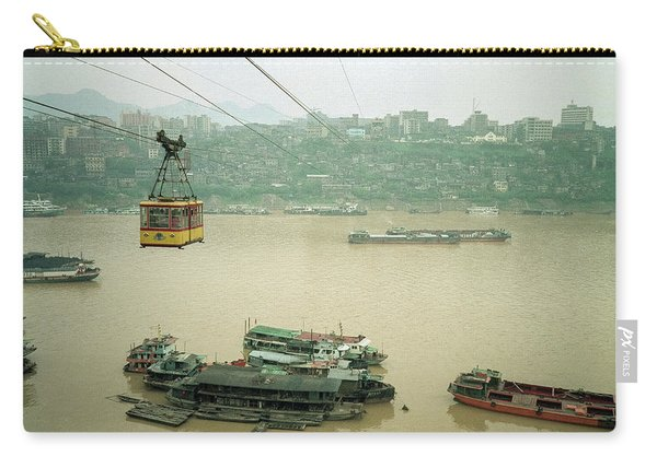 Cable Car Over Yangzi River In Chongqing China Carry-all Pouch