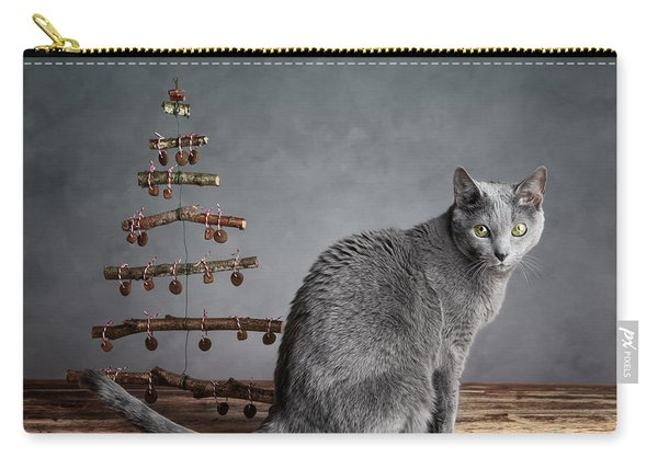 Cat Christmas Carry-all Pouch
