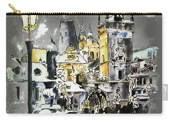 Charles Bridge In Winter Carry-all Pouch