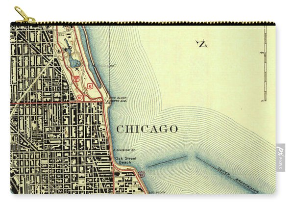 Chicago Old Map Carry-all Pouch