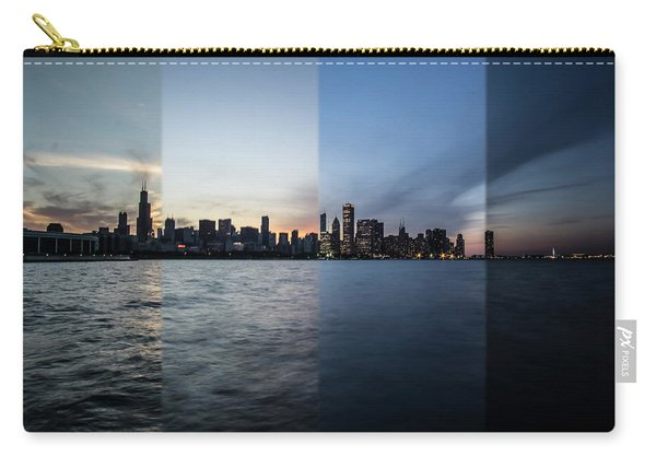 Chicago Skyline Time Slice  Carry-all Pouch
