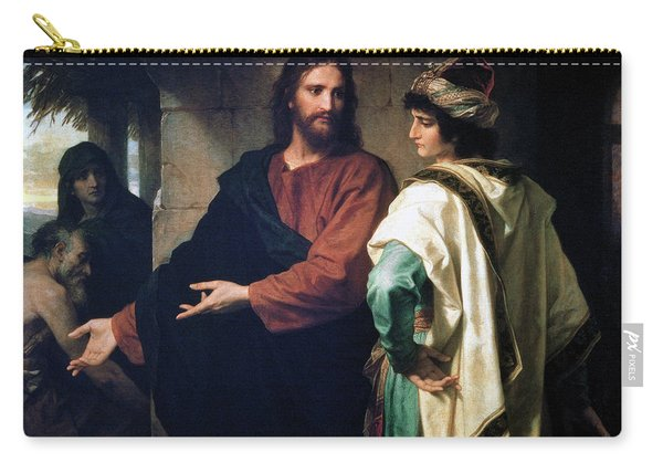 Christ And The Rich Young Ruler Carry-all Pouch
