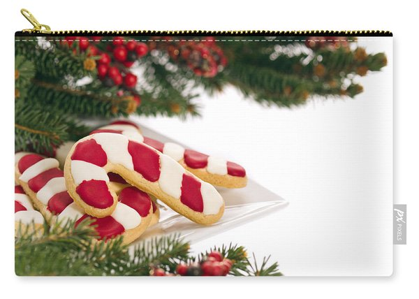 Christmas Cookies Decorated With Real Tree Branches Carry-all Pouch