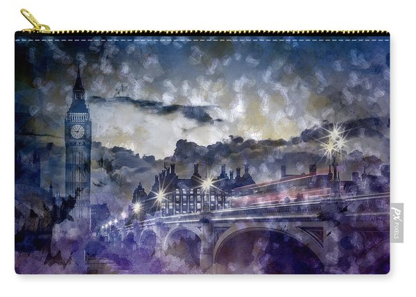 City-art London Westminster Bridge At Sunset Carry-all Pouch