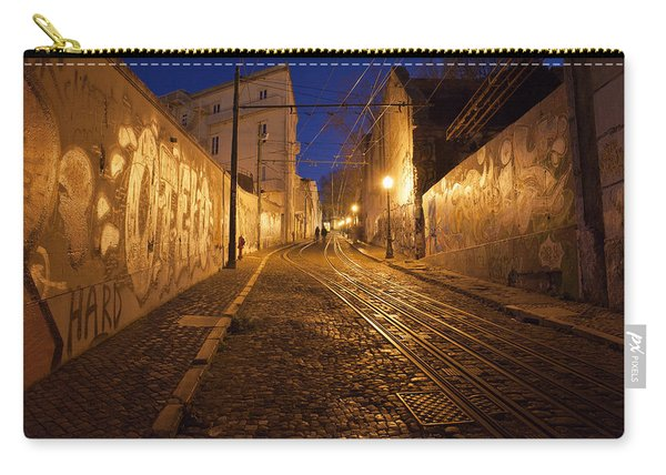 City Of Lisbon By Night In Portugal Carry-all Pouch