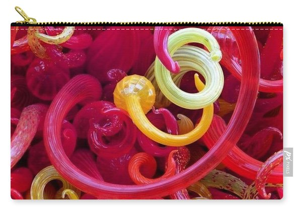 Close-up Of Art Glass By Dale Chihuly Carry-all Pouch