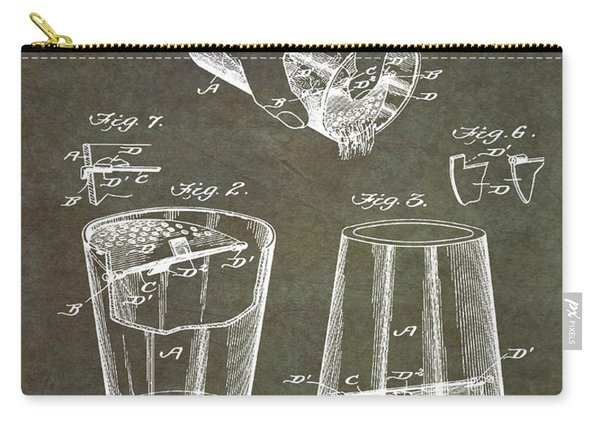 Cocktail Mixer Patent 1903 In Marble Carry-all Pouch