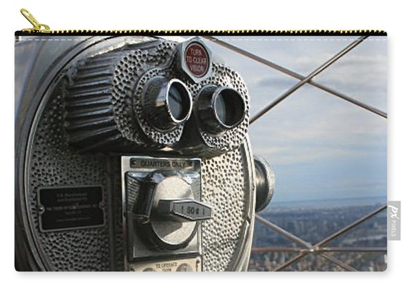 Carry-all Pouch featuring the photograph Coin Operated Viewer by Debbie Cundy