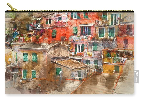 Colorful Homes In Cinque Terre Italy Carry-all Pouch