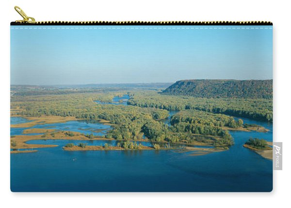 Confluence Of Mississippi And Wisconsin Carry-all Pouch