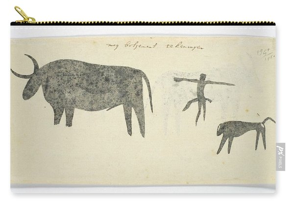 Copies After San Rock-paintings Of An Ox, A Baboon, And A Man, Robert Jacob Gordon, 1777 Carry-all Pouch