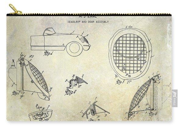 Corvette Headlight Patent Carry-all Pouch