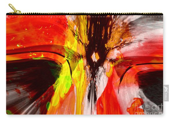 Crazy Colored Abstract Carry-all Pouch