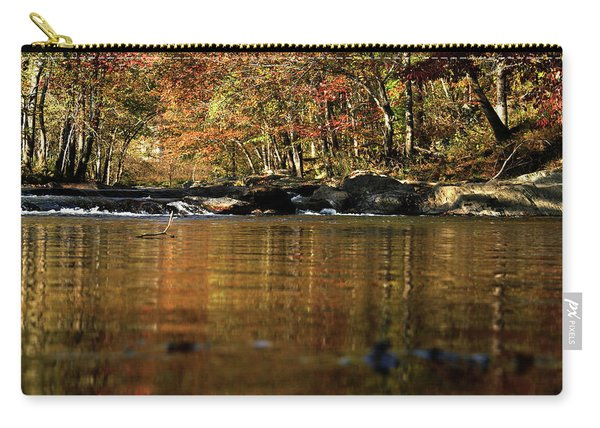 Creek Water Flowing Through Woods In Autumn Carry-all Pouch