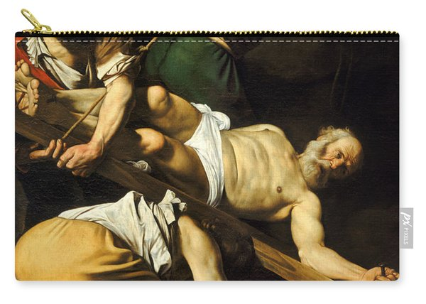Crucifixion Of Saint Peter Carry-all Pouch