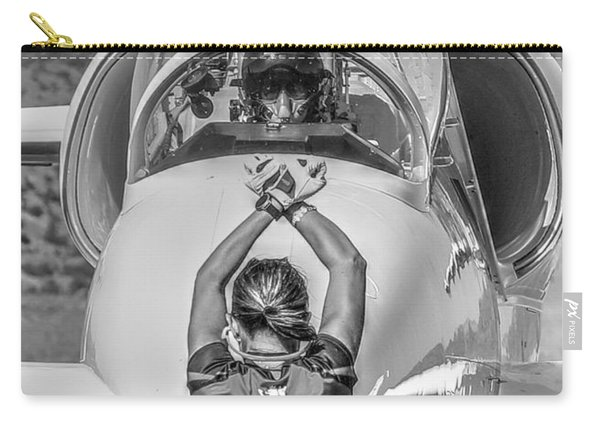 Carry-all Pouch featuring the photograph Darkstar II Taxis In by John King