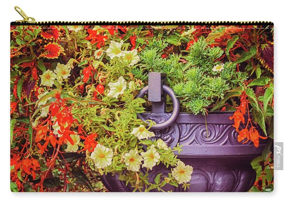 Decorative Flower Vase In Garden Carry-all Pouch