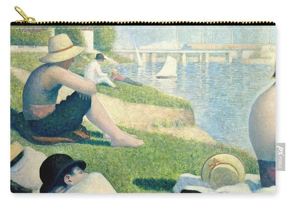 Detail From Bathers At Asnieres Carry-all Pouch
