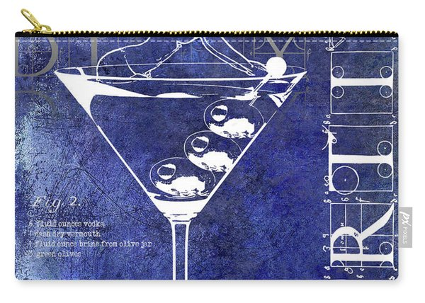Dirty Dirty Martini Patent Blue Carry-all Pouch