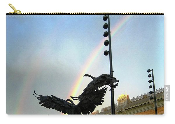Double Rainbow Over Old Town Square Carry-all Pouch