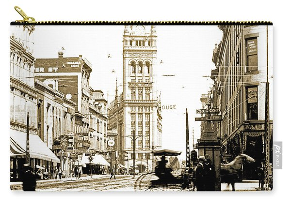 Downtown Milwaukee, C. 1915-1920, Vintage Photograph Carry-all Pouch