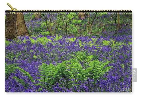 English Bluebell Woodland Carry-all Pouch
