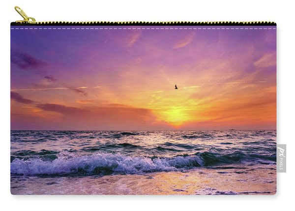 Carry-all Pouch featuring the photograph Evening Flight by Dmytro Korol