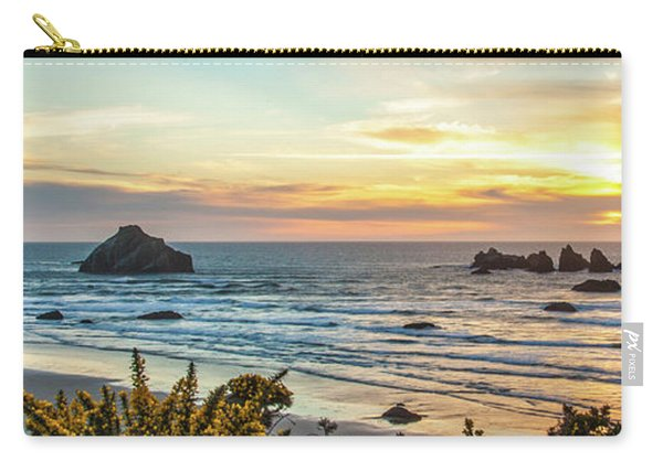 Face Rock At Sunset Carry-all Pouch