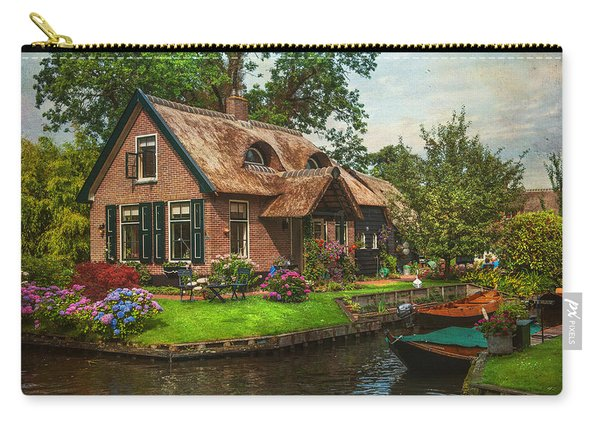Fairytale House. Giethoorn. Venice Of The North Carry-all Pouch