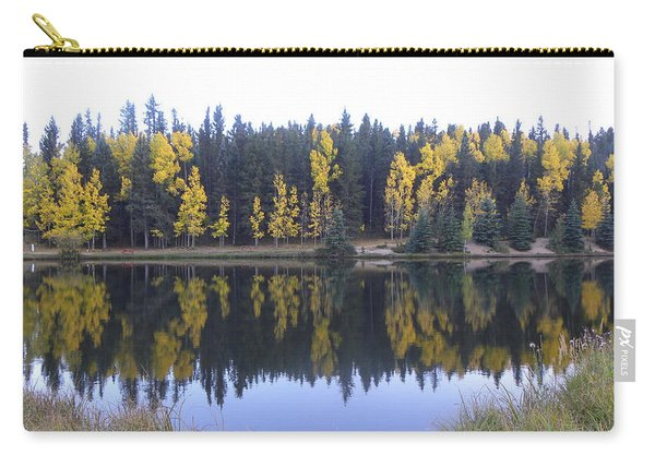 Carry-all Pouch featuring the photograph Potty Pond Reflection - Fall Colors Divide Co by Margarethe Binkley