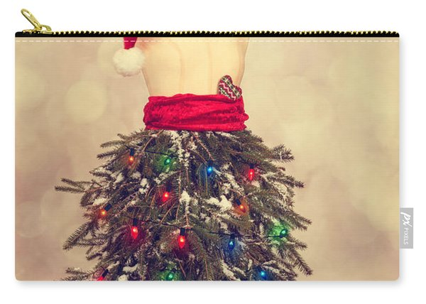 Festive Christmas Mannequin Carry-all Pouch