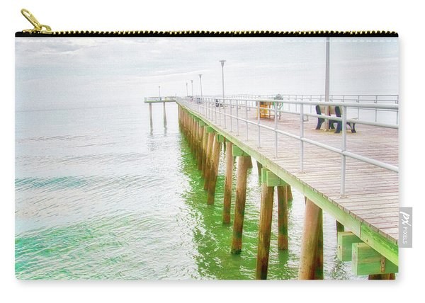 Fishing Pier, Margate, New Jersey Carry-all Pouch